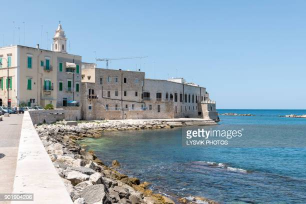 sea side part of the old town molfetta - bari stock photos and pictures