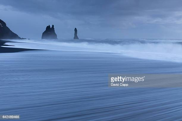 Sea stacks on the beach, Vik in Iceland