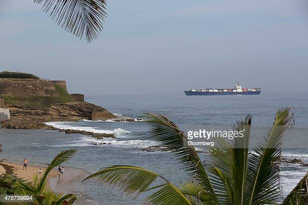 A Sea Star container ship passes by El Morro fortress in Old San Juan Puerto Rico on Friday May 29 2015 For the hedge funds and money managers that...