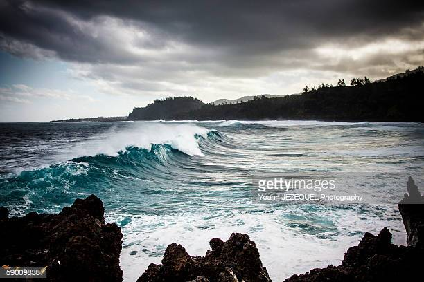 Sea storm in Reunion island