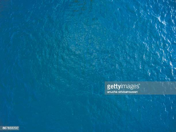 Sea surface blue .