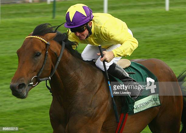 Sea The Stars ridden by jockey Mick Kinane wins the The Juddmonte International Stakes during the Ebor Festival held at York Racecourse on August 18...
