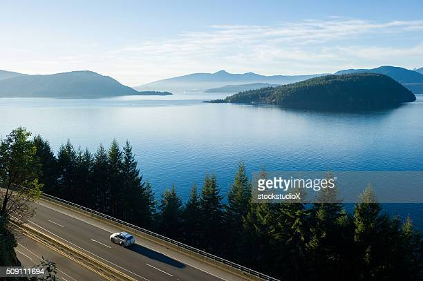 sea to sky highway or highway 99 - british columbia stock pictures, royalty-free photos & images