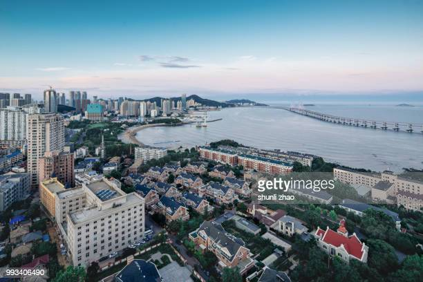 sea town - liaoning province stock pictures, royalty-free photos & images