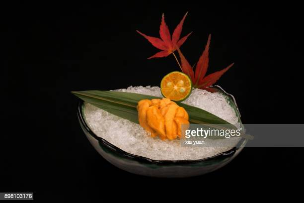 sea urchin sashimi - sea urchin stock pictures, royalty-free photos & images