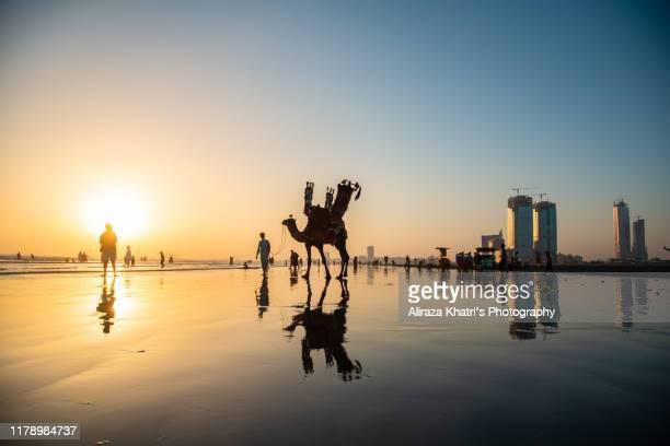 sea view beach, karachi - pakistan stock pictures, royalty-free photos & images