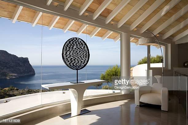 Sea view from a luxury Mediterranean villa