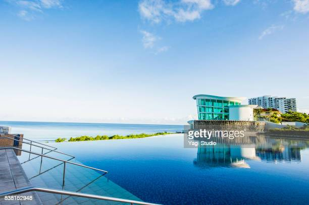 sea view from luxury hotel - guam stock pictures, royalty-free photos & images