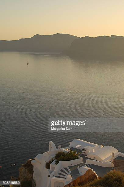 sea view from oia, santorini - sarri stock pictures, royalty-free photos & images