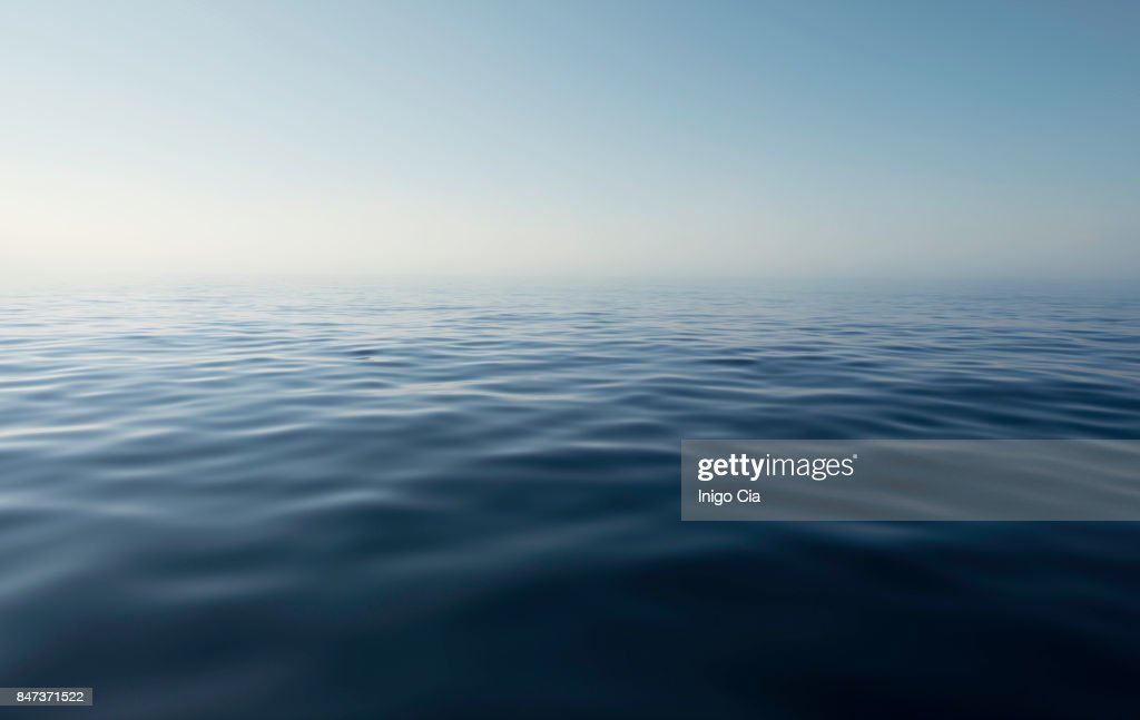 Sea view in a calm and quiet day : Stock Photo