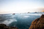 sea view marine panorama coast at