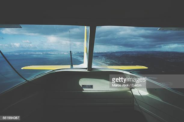 sea viewed from seaplane - propeller stock pictures, royalty-free photos & images