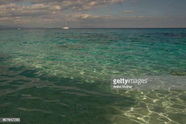 sea water in sardinia - cala goloritze foto e immagini stock