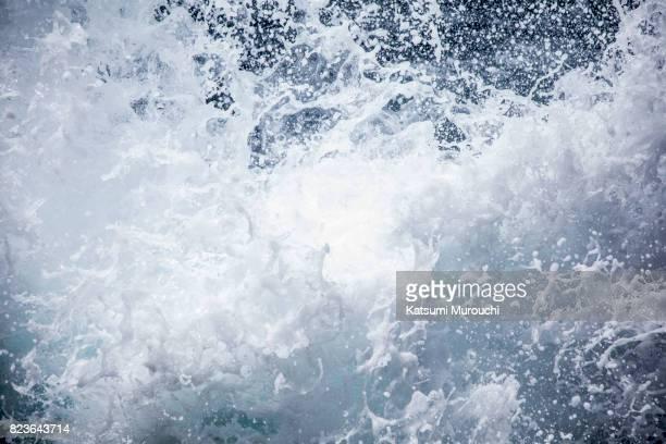 Sea wave and splashing background