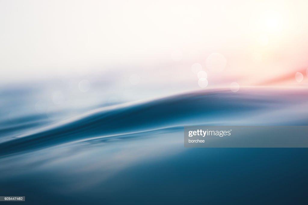 Sea Wave At Sunset : Stock Photo