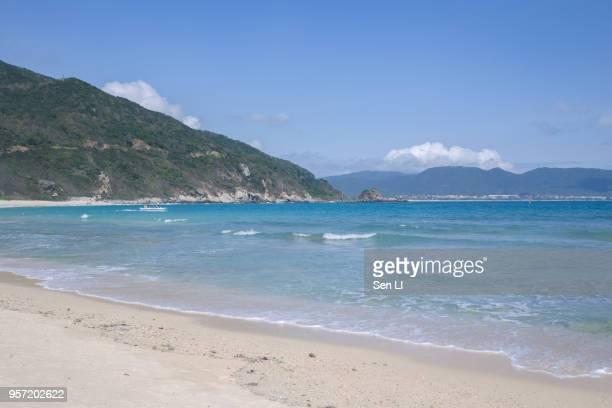 Sea waves in Sanya, Hainan Province