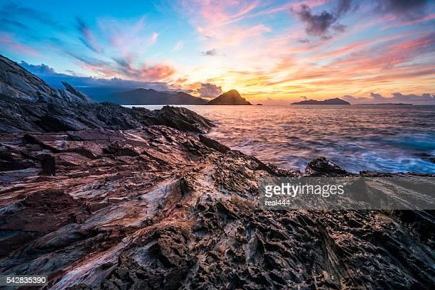 sea with rocks