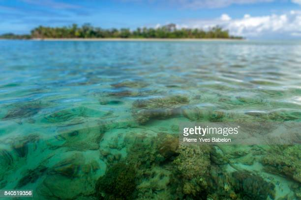 seabed of the island - lagoon stock pictures, royalty-free photos & images