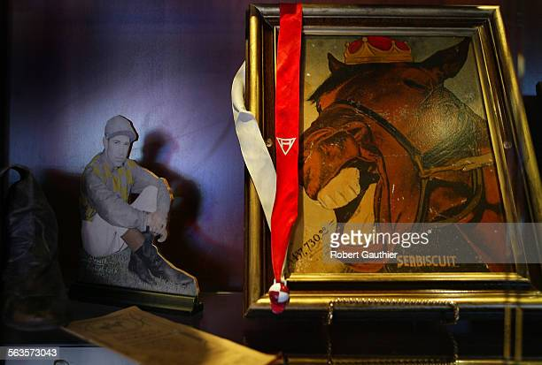 Seabiscuit memorabilia at the Brown Derby restaurant in Arcadia Monday July 7 2003