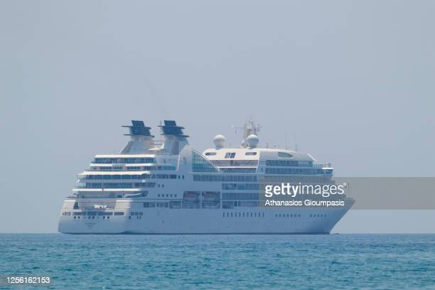 Seabourn Quest cruise ship choose Cyprus for lay-up on 13 July 2020 in Limassol, Cyprus. Seabourn Quest cruise ship choose Cyprus for lay-up east of...
