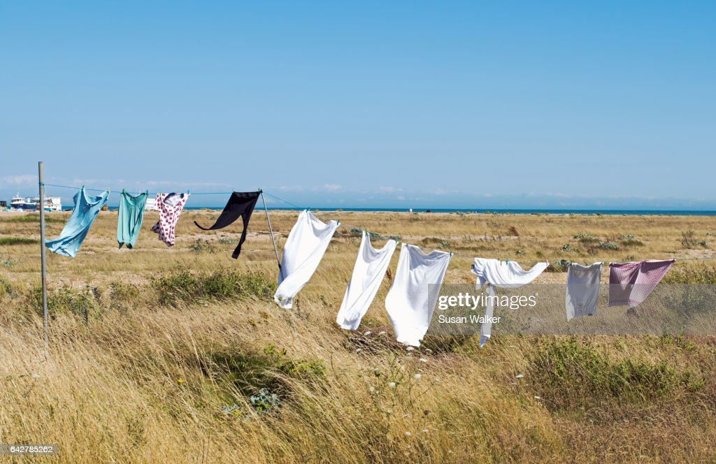 Sea-Breeze Laundry : Stock Photo