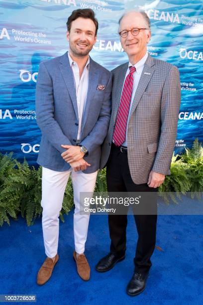 SeaChange Co-Chair Jeff Blasingame and Oceana CEO Andy Sharpless attend the 11th Annual SeaChange Summer Party on July 21, 2018 in Laguna Beach,...