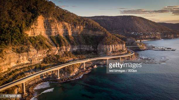 seacliff bridge - cliff stock pictures, royalty-free photos & images