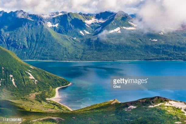 seacoast of katmai in southern alaska - alaska stock pictures, royalty-free photos & images