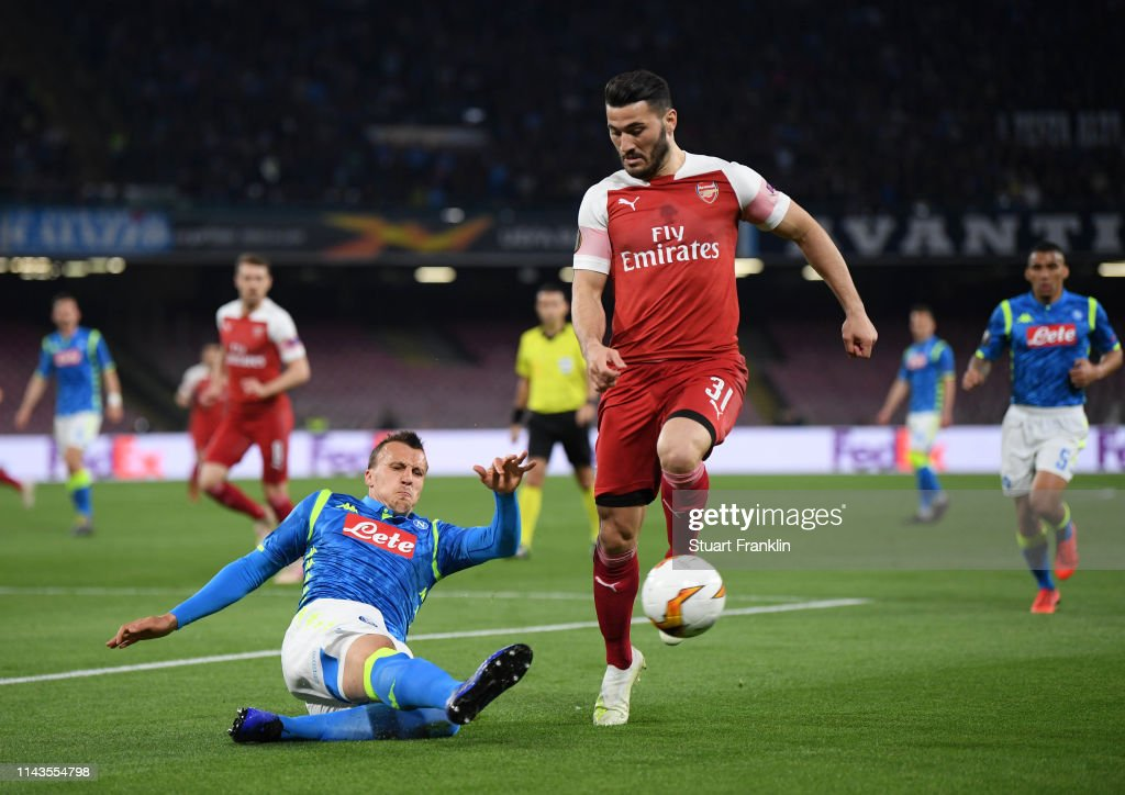 ITA: S.S.C. Napoli v Arsenal - UEFA Europa League Quarter Final : Second Leg