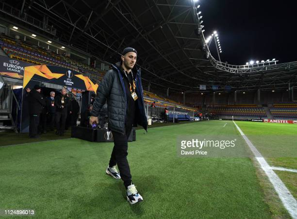 Sead Kolasinac of Arsenal before the UEFA Europa League Round of 32 First Leg match between BATE Borisov and Arsenal at Borisov Arena on February 14...