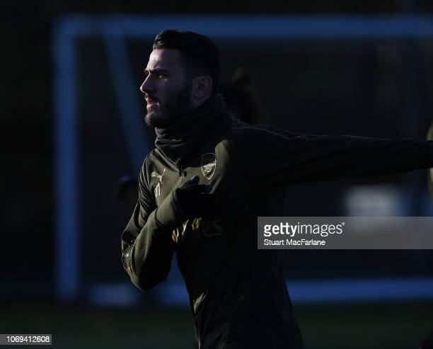 Sead Kolasinac of Arsenal during a training session at London Colney on December 7 2018 in St Albans England