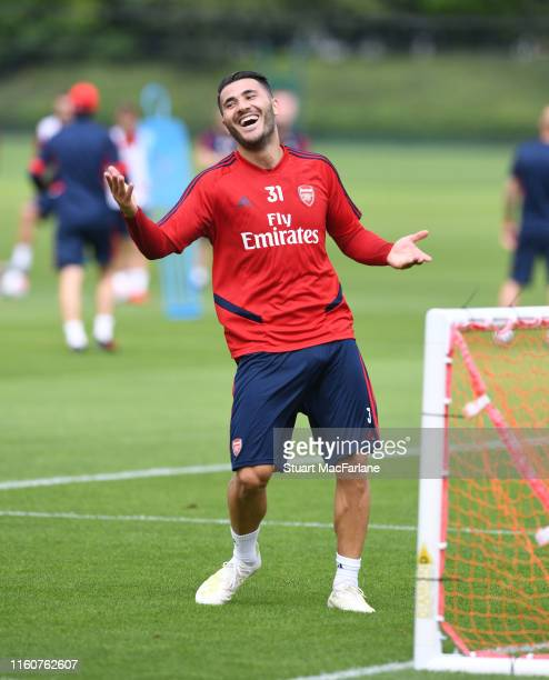 Sead Kolasinac of Arsenal during a training session at London Colney on July 08 2019 in St Albans England
