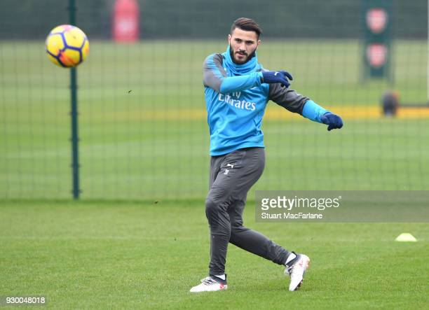 Sead Kolasinac of Arsenal during training at London Colney on March 10 2018 in St Albans England