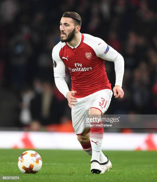 Sead Kolasinac of Arsenal during UEFA Europa League Round of 16 match between AC Milan and Arsenal at Emirates Stadium on March 15 2018 in London...