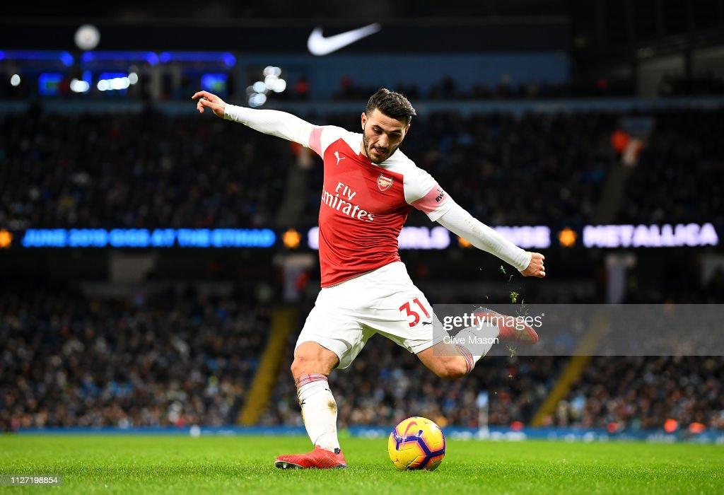 Manchester City v Arsenal FC - Premier League : Nachrichtenfoto