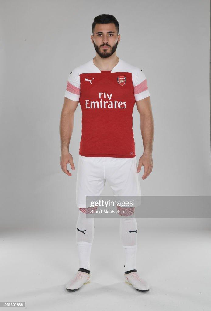 3fad55eaf Sead Kolasinac of Arsenal in the new home kit for season 2018-19 on ...