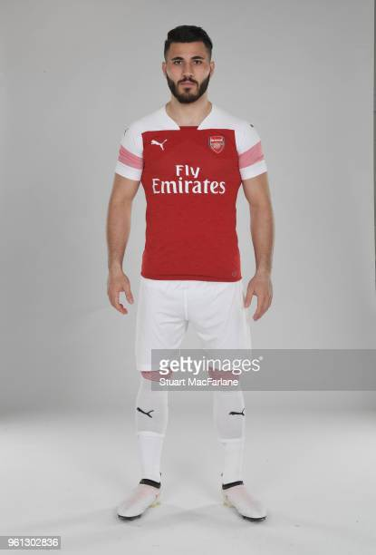 Sead Kolasinac of Arsenal in the new home kit for season 201819 on March 16 2018 in St Albans England