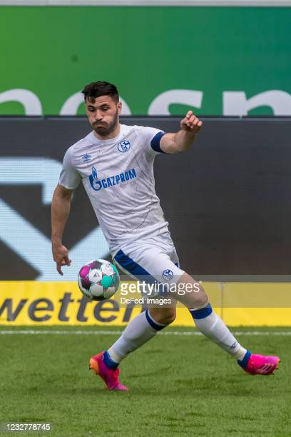 Sead Kolasinac of FC Schalke 04 controls the Ball during the Bundesliga match between TSG Hoffenheim and FC Schalke 04 at PreZero-Arena on May 8,...