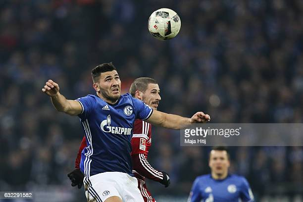 Sead Kolasinac of Schalke and Mathew Leckie of Ingolstadt fight for the ball during the Bundesliga match between FC Schalke 04 and FC Ingolstadt 04...
