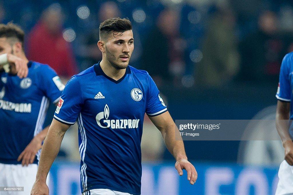 Sead Kolasinac of Schalke disappointede during the Bundesliga match between FC Schalke 04 and Eintracht Frankfurt at Veltins-Arena on January 27, 2017 in Gelsenkirchen, Germany.