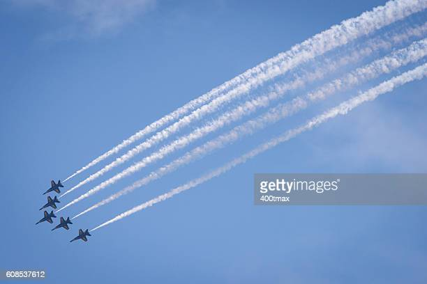 seafair - blue angels stock pictures, royalty-free photos & images