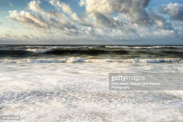 Seafoam and Frothy Water at Robert Moses State Park