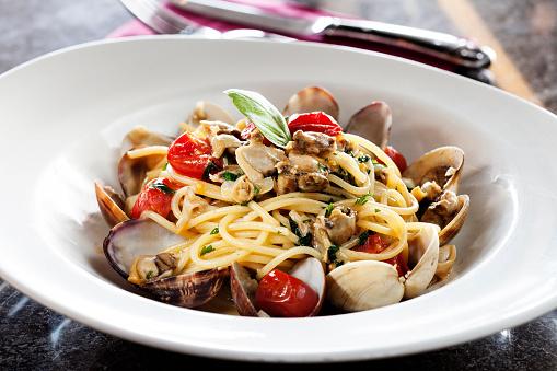 Seafood and pasta,sicily,spaghetti 1006587840