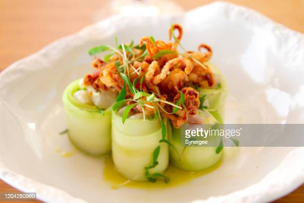 seafood appetizer - course meal stock pictures, royalty-free photos & images