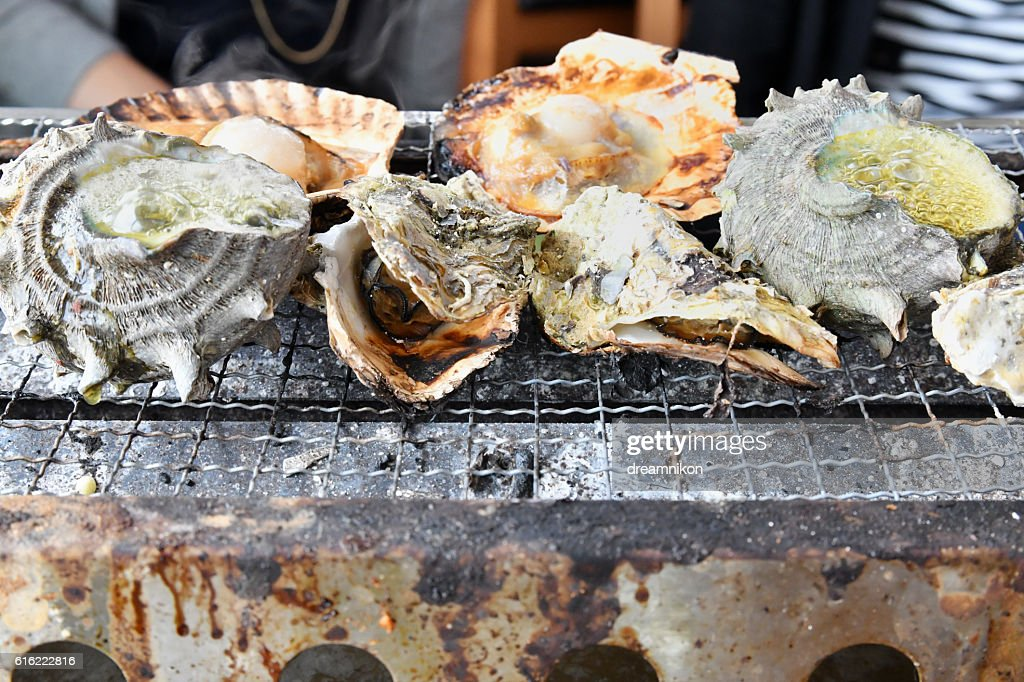 Seafood barbecue : Stock Photo