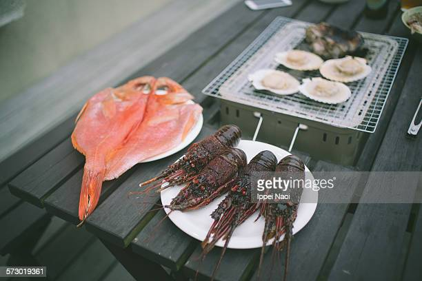 Seafood BBQ on terrace