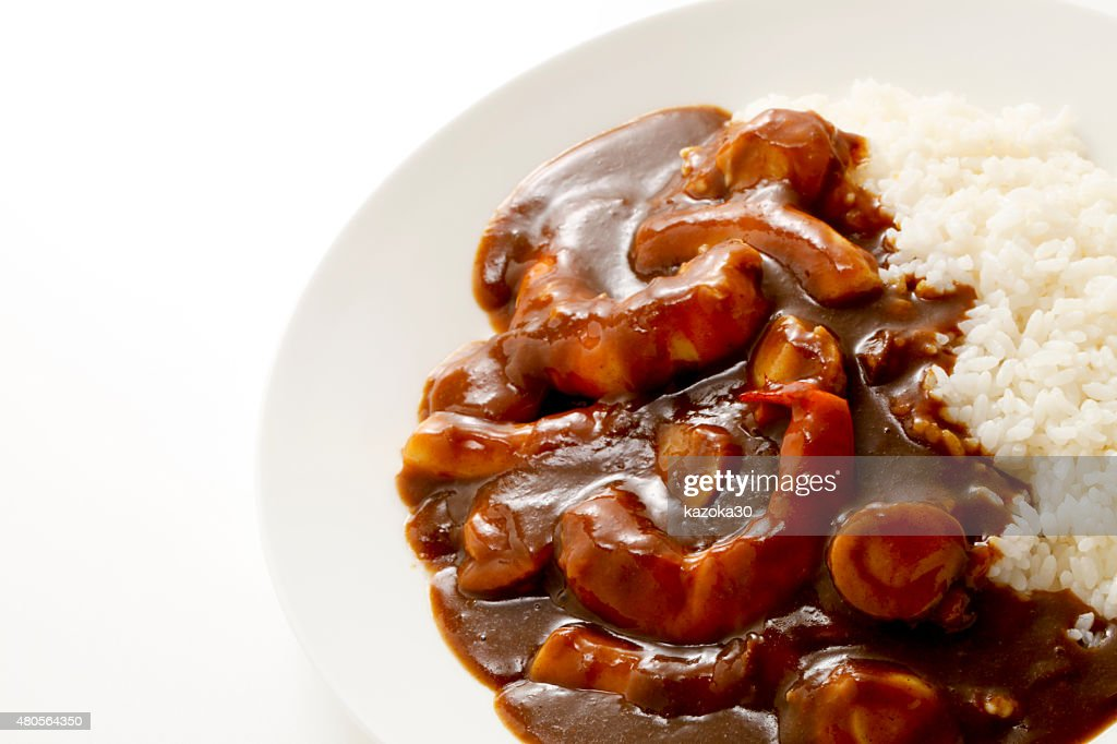 Seafood curry rice : Stock Photo