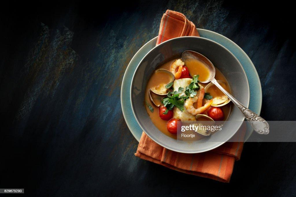 Meeresfrüchte: Fischeintopf Stillleben : Stock-Foto