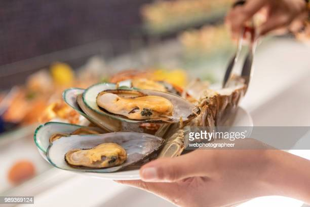 Seafood in oyster bar