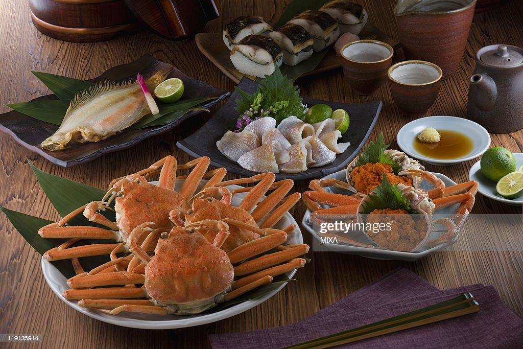 Seafood of Hokuriku region : Foto de stock